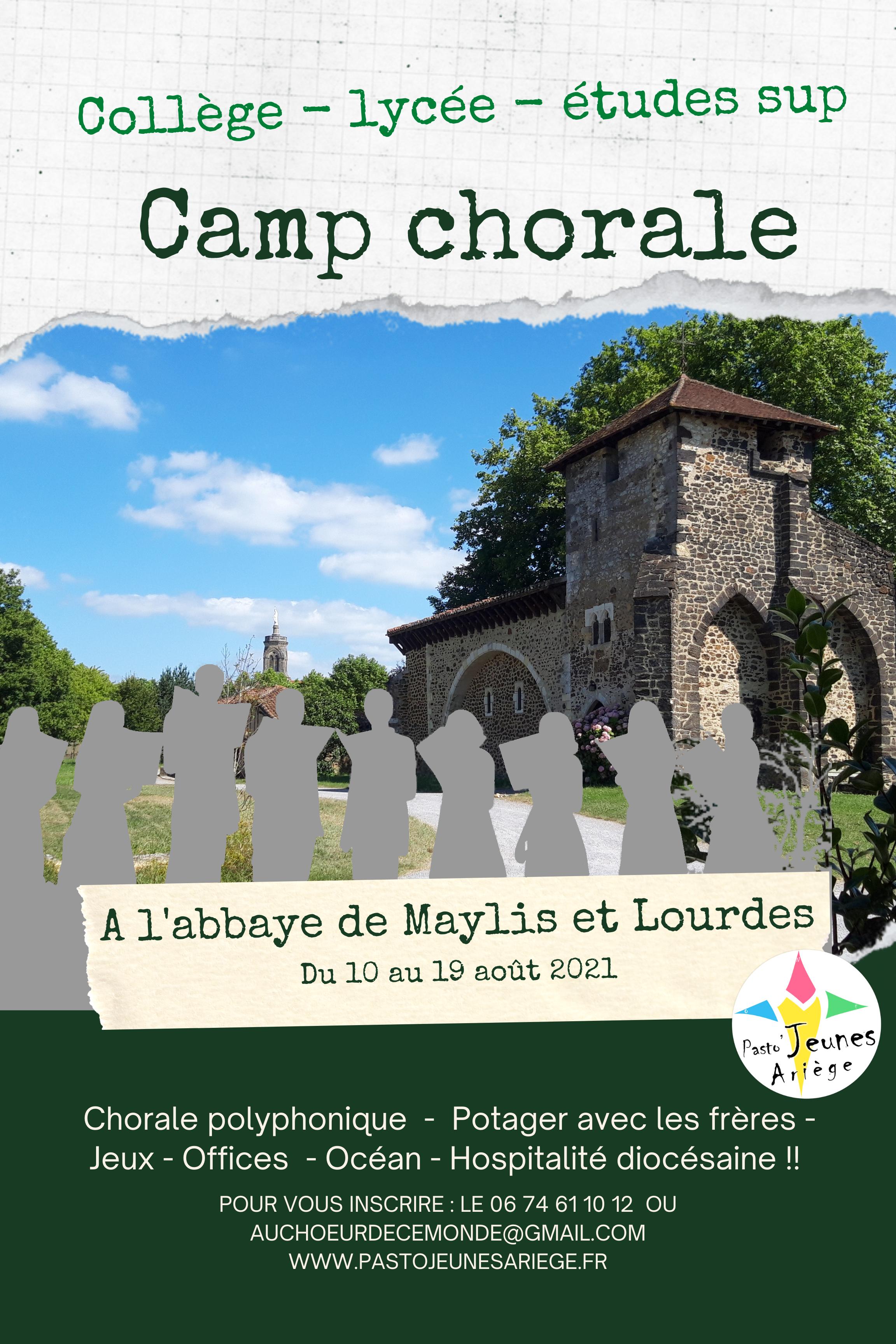 CAMP CHORALE à l'Abbaye de Maylis