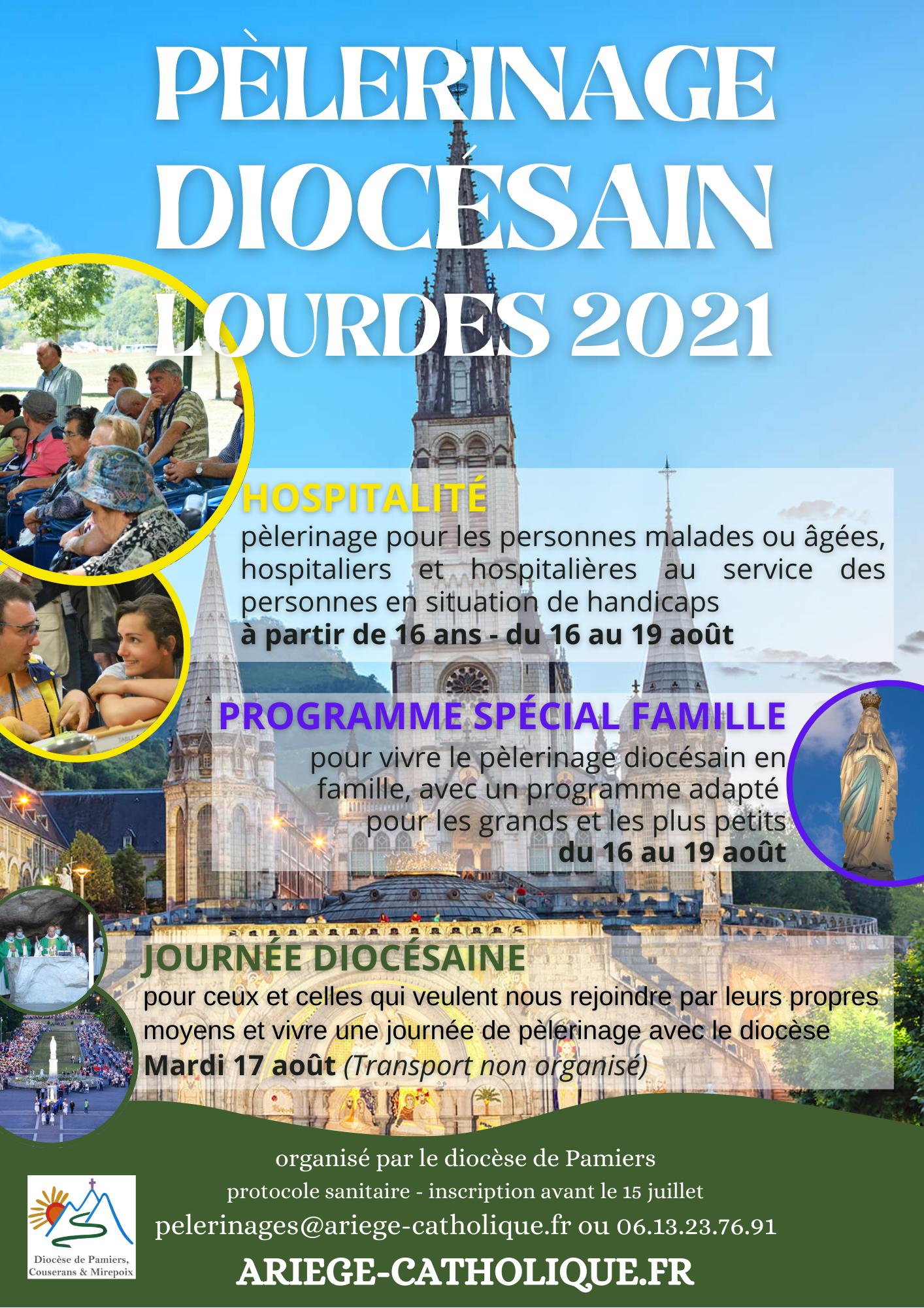 Pèlerinage Diocésain à Lourdes