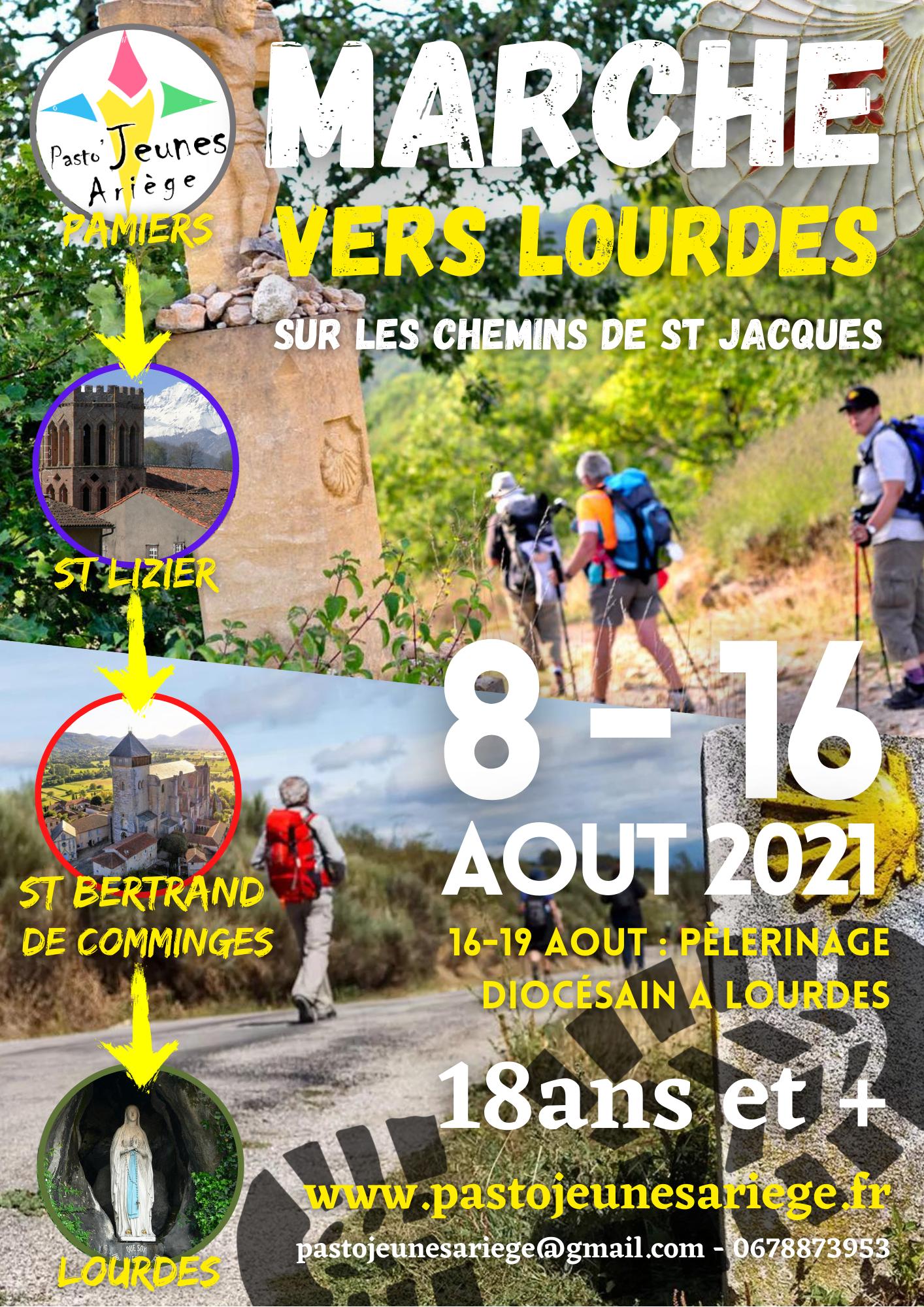 PAMIERS-LOURDES sur les Chemins de St Jacques