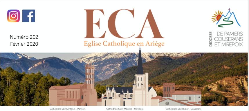 Église Catholique en Ariège (ECA), n°204 – Novembre 2020, est paru